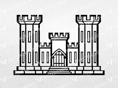 Army Corps of Engineers Castle | SVG Cut File