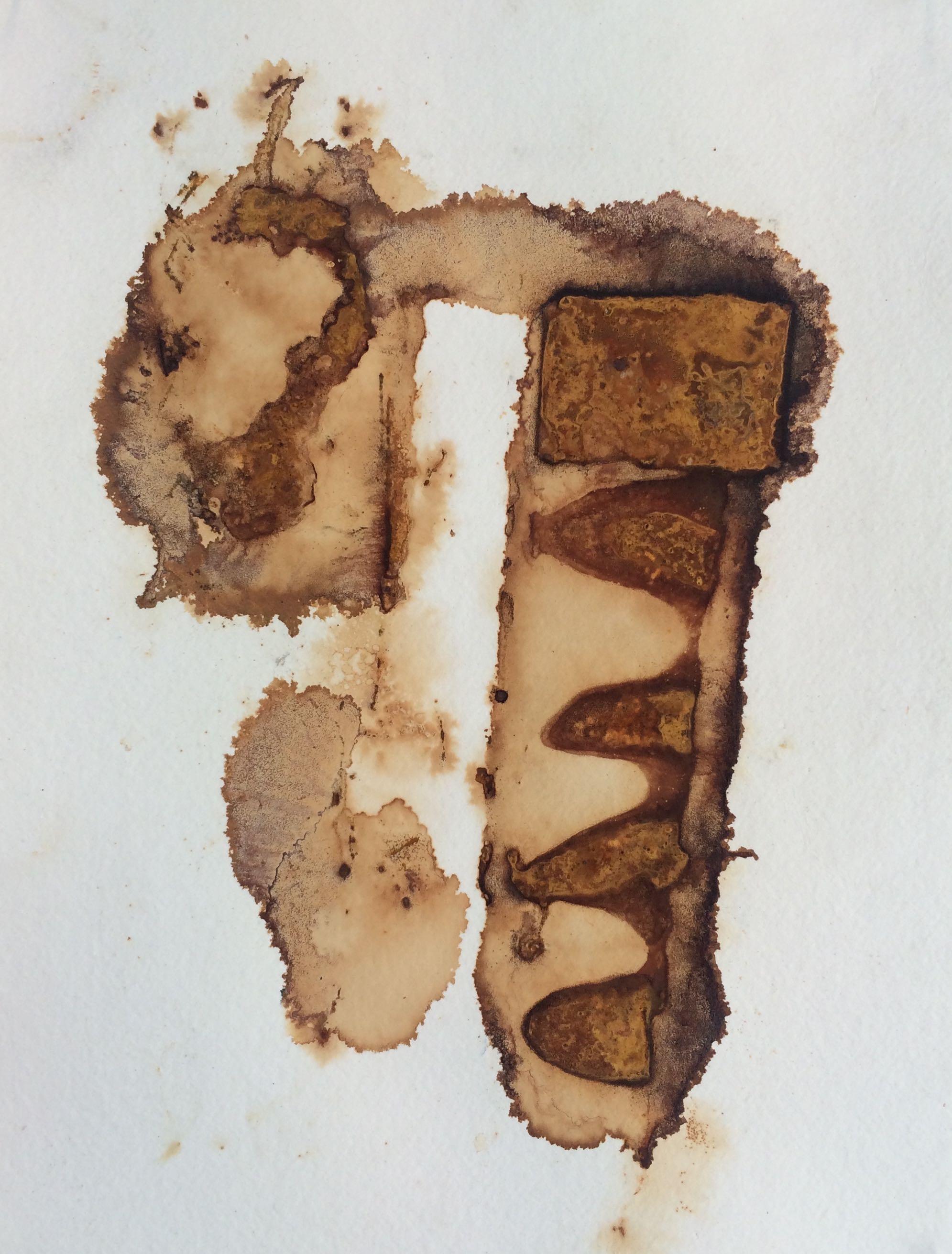 Rust Print on Paper, 3