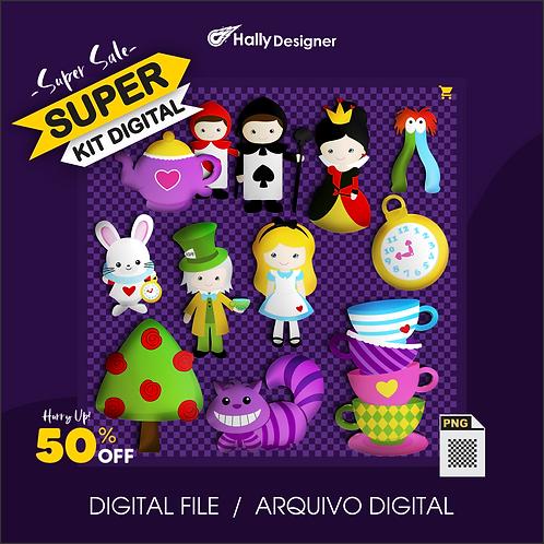 Kit Digital PNG - Festa Alice