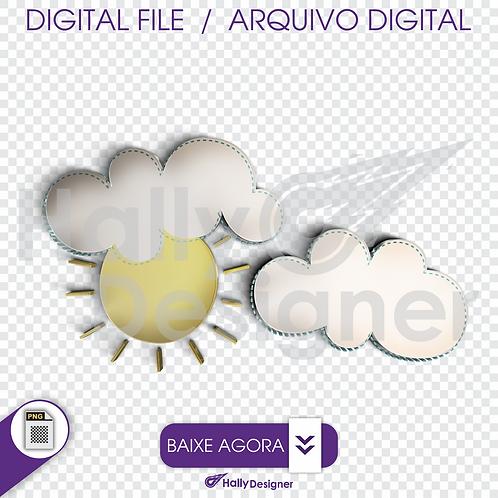Arquivo Digital PNG - Festa Balão -Sol e Nuvens