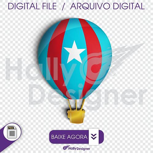 Arquivo Digital PNG - Festa Aviador - Balão
