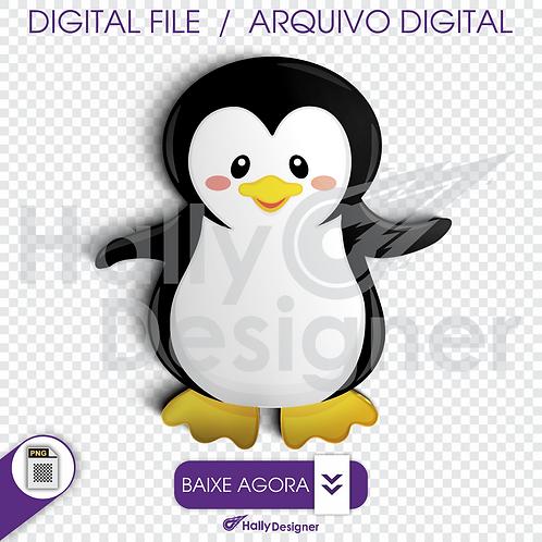 Arquivo Digital PNG - Pinguim