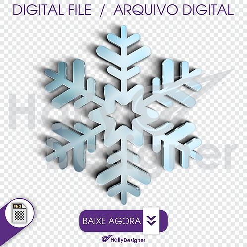 Arquivo Digital PNG - Cristal de gelo Azul Claro