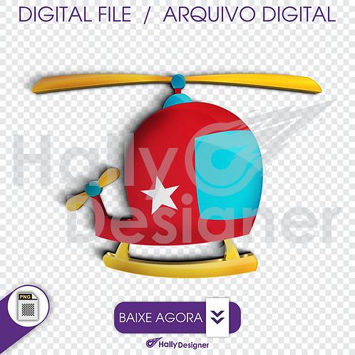 Arquivo Digital PNG - Festa Aviador - Elicoptero