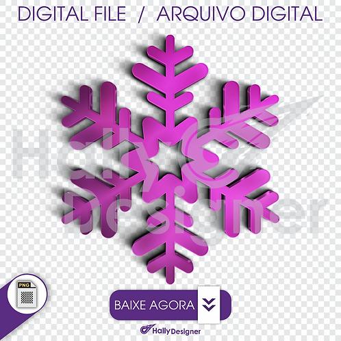 Arquivo Digital PNG - Cristal de gelo rosa