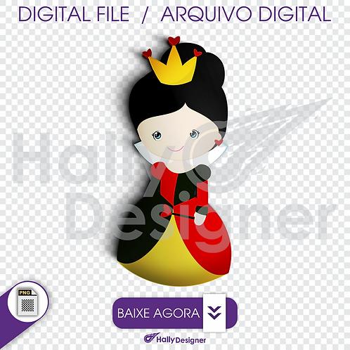 Arquivo Digital PNG - Festa Alice - Rainha