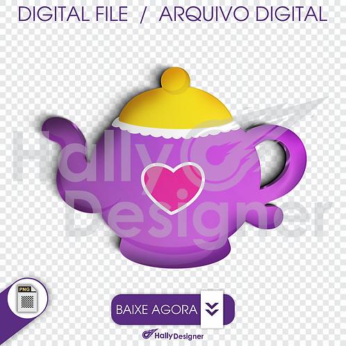 Arquivo Digital PNG - Festa Alice - Bule