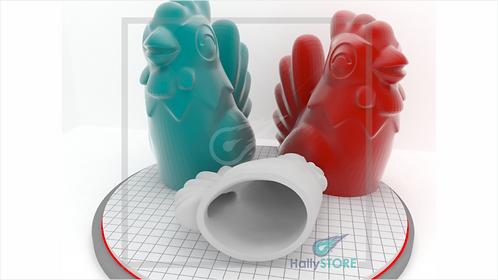 Galinha 3D-  Arquivo Digital STL Para Impressora 3D
