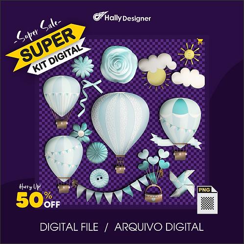 Kit Digital PNG - Festa Balão