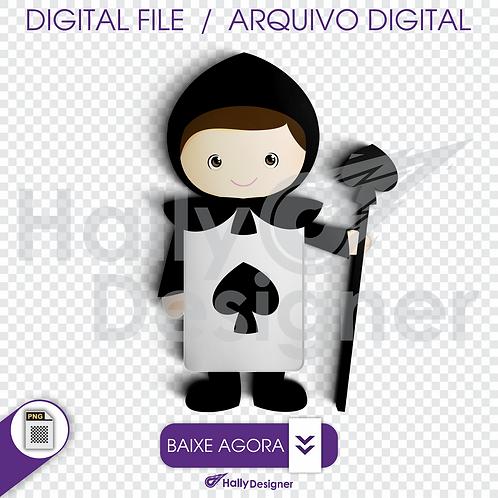 Arquivo Digital PNG - Festa Alice - soldado valete de espadas