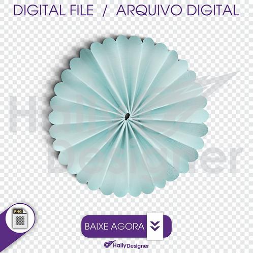 Arquivo Digital PNG - Festa Balão - Flor de Papel