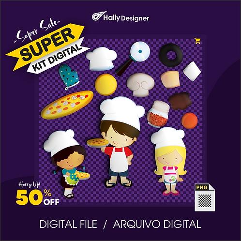 Kit Digital PNG - Festa da  Pizza