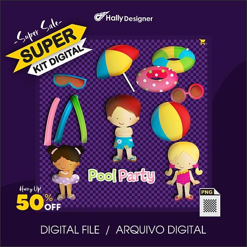 Kit Digital PNG - Festa Praia