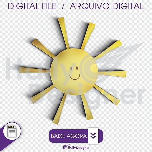 Arquivo Digital PNG - Festa Balão -Sol