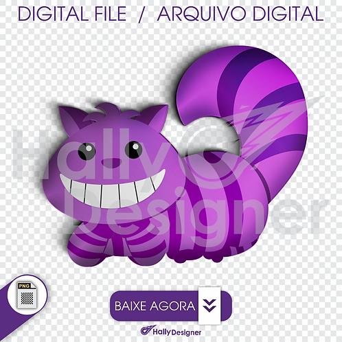 Arquivo Digital PNG - Festa Alice - Gato