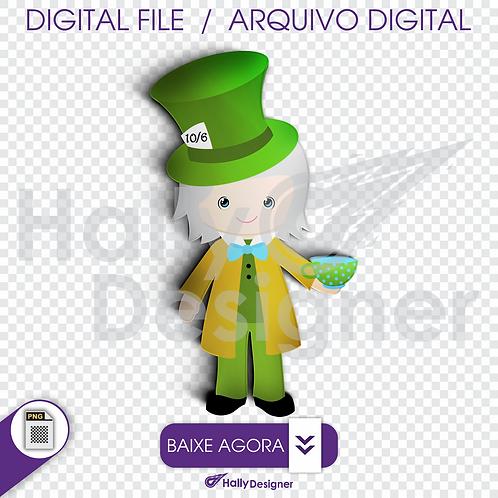 Arquivo Digital PNG - Festa Alice - Chapeleiro