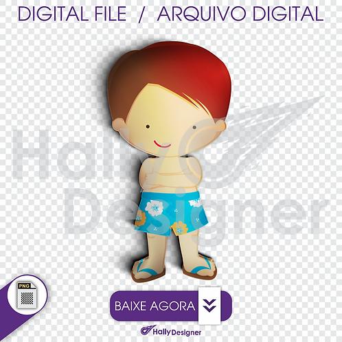 Arquivo Digital PNG - Festa Praia - Menino