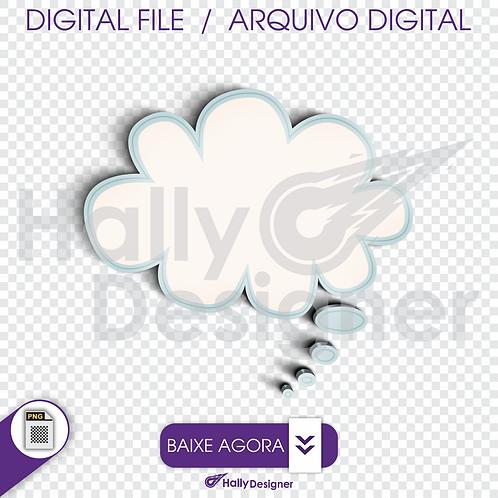Arquivo Digital PNG - Festa Balão - Frame - Nuvem