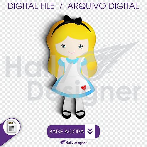Arquivo Digital PNG - Festa Alice - Alice
