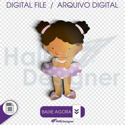Arquivo Digital PNG - Festa Praia - Menina