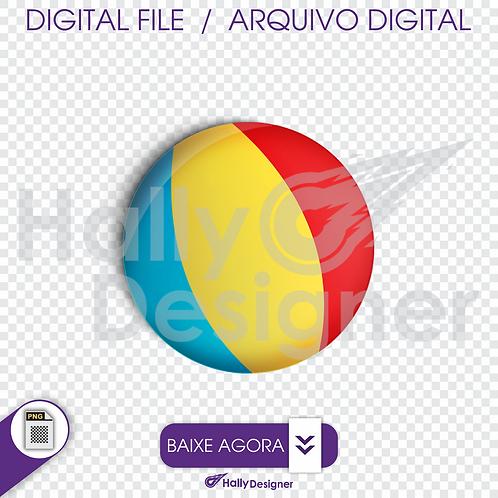 Arquivo Digital PNG - Festa Praia - Bola