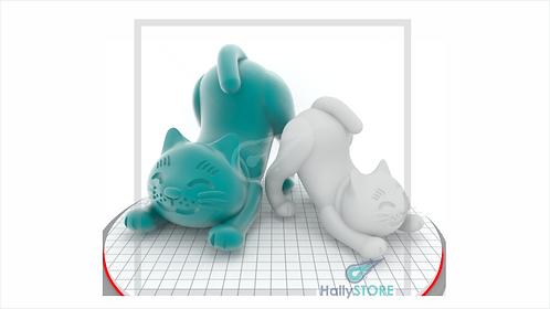 Gatinho 3D-  Arquivo Digital STL Para Impressora 3D