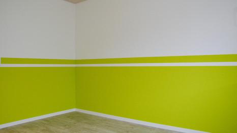 grüne halbwand