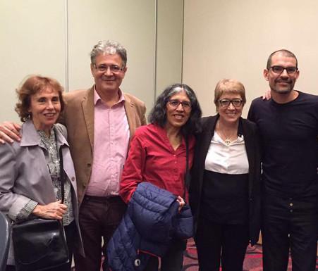 Con Teresa Parodi, Sara Mamaní, Carlos Aldazábal. Feria del libro . Sala Sarmiento.