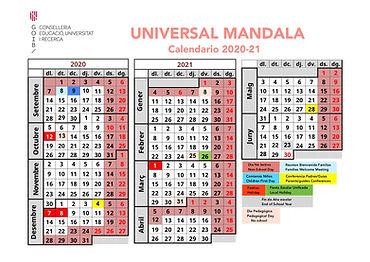CALENDAR 2020-21 : CALENDARIO 2020-21 co