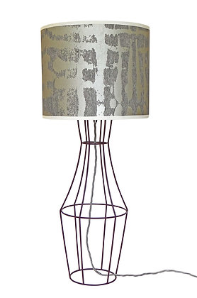 Figurina 'Kete Pa' Pearl & Silver Table Lamp