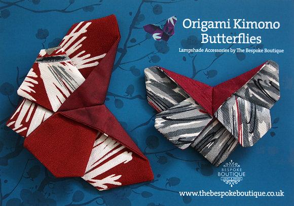 Vintage kimono origami butterfly magnet