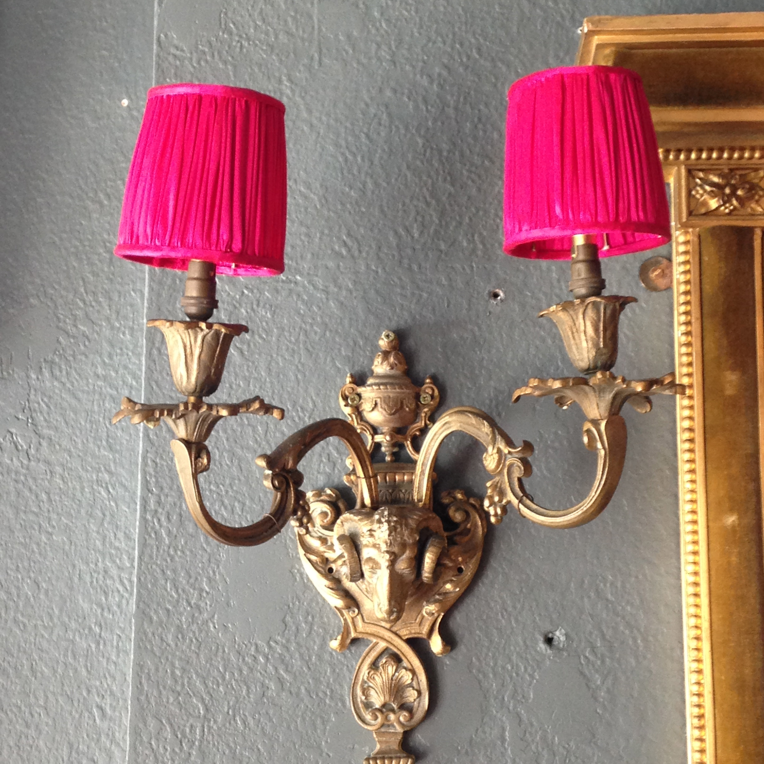 Silk ruched candle lampshade