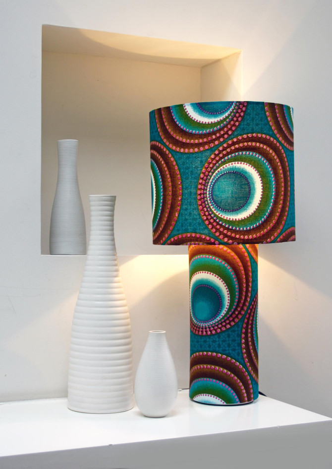 African Kaleidoscope Table Lamps