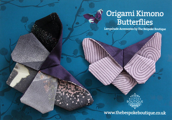 Vintage kimono origami butterfly magnet