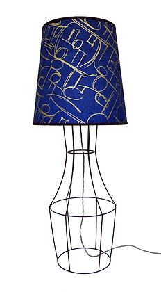Figura 'Asesegua' Electric Blue & Gold Floor Lamp