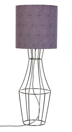 Gunmetal Figura table lamp with vintage lampshade