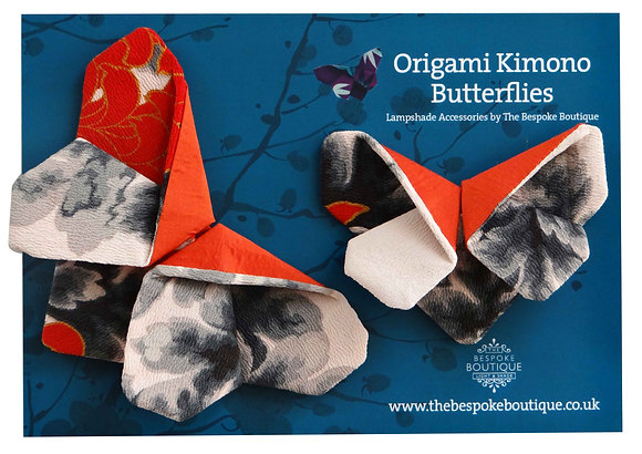 Vintage Origami Kimono Butterfly lamp accessory