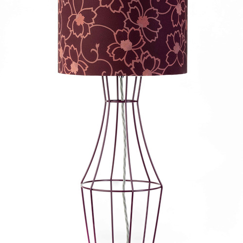 Figura table lamp aubergine figura table lamp with vintage lampshade mozeypictures Gallery