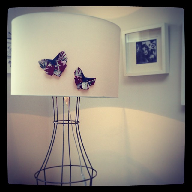 Instagram - Make a plain lampshade shine with our magnetic origami butterflies @