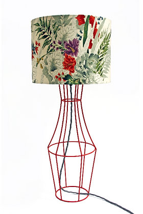 Orange Figura table lamp with vintage lampshade