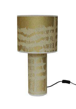 Kaleidoscope 'Kete Pa' Gold & Flock Table Lamp