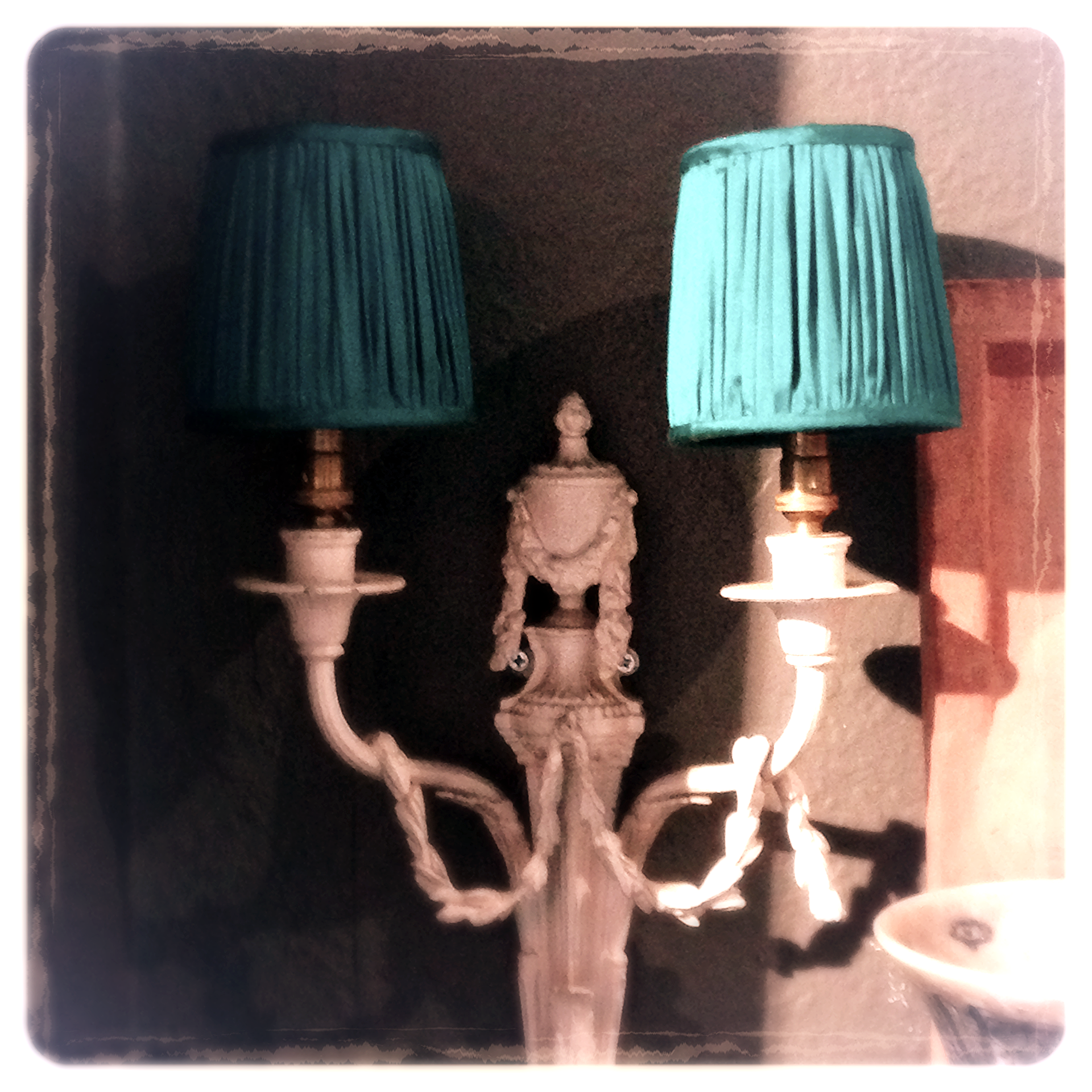 Small rouched lampshades