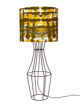 Figurina 'Kete Pa' Yellow & Olive Green Table Lamp