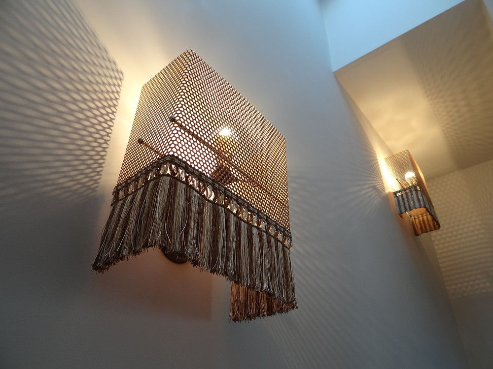 Bespoke Perforated Metal Wall Lights by The Bespoke Boutique