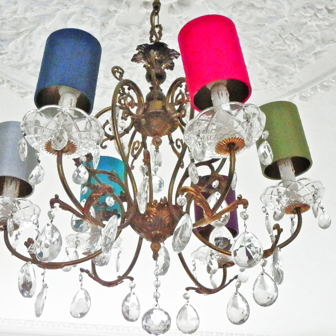 Bespoke chandelier caps