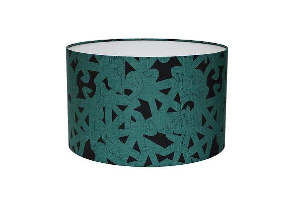 'Fun Tun' Emerald Green & Black Lampshade or Pendant