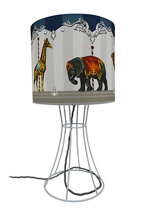 CAROUSEL METAL TABLE LAMP