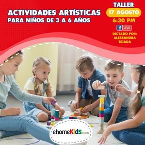 Actividades Artísticas para niños de 3 a 6 años