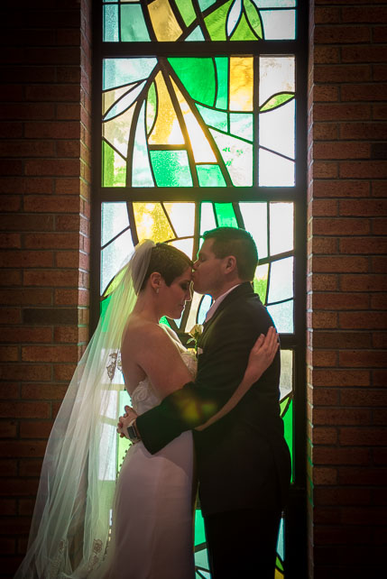 Stained glass window wedding