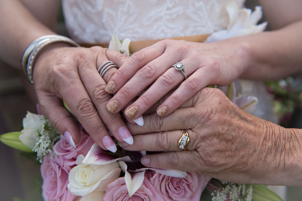 three gererations hands
